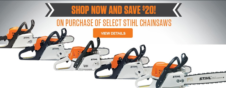 SAVE $20 on select STIHL chainsaws!